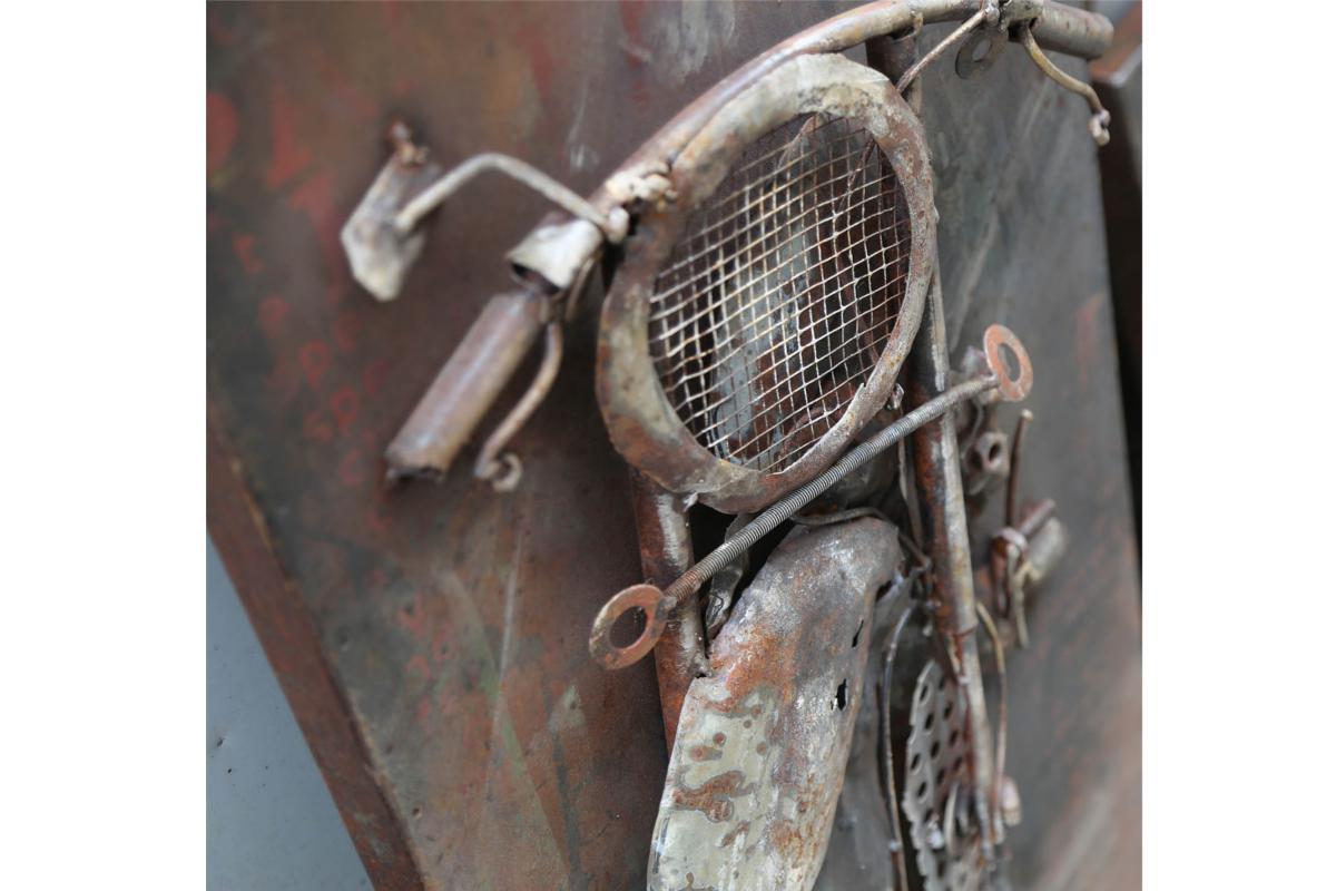 Wandbild Metall 3d : 3d motorradbild aus metall wandbild im retrostil 140x70x7cm wodega wohnen deko garten ~ Watch28wear.com Haus und Dekorationen