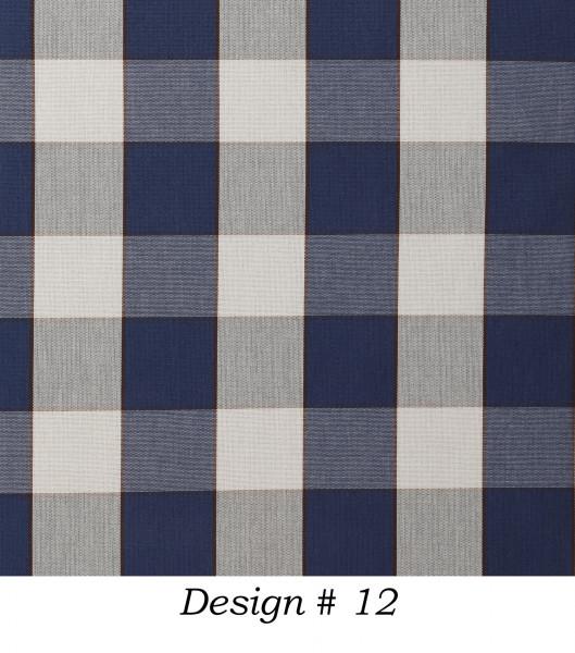 Markisenstoff Dralon® Design 12 Blau Beige kariert