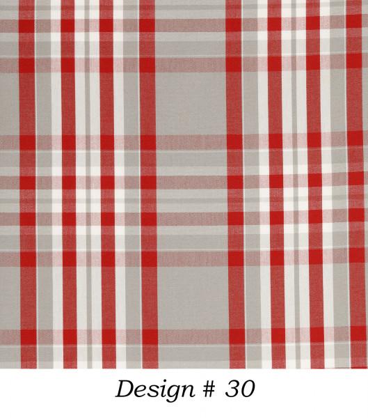 Markisenstoff Dralon® Design 30 Rot Grau Weiß kariert