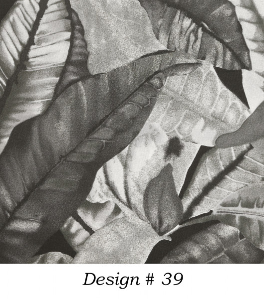 Markisenstoff Dralon® Design 39 Jungle Schwarz Weiß Grau