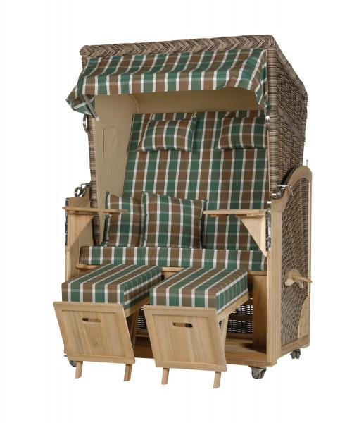 Akazienholz Strandkorb 2-Sitzer Volllieger SO-BE-Design 27