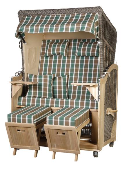 Akazienholz Strandkorb 2-Sitzer Volllieger MO-BE-Design 27