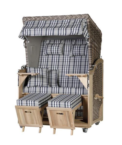Akazienholz Strandkorb 2-Sitzer Volllieger SO-GR-Design 31