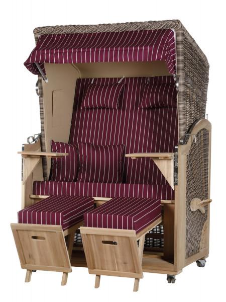 Akazienholz Strandkorb 2-Sitzer Volllieger SO-BE-Design 14