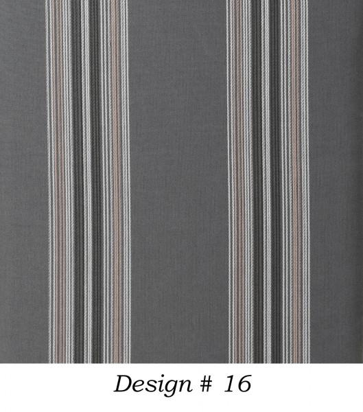 Markisenstoff Dralon® Design 16 Grau Beige gestreift