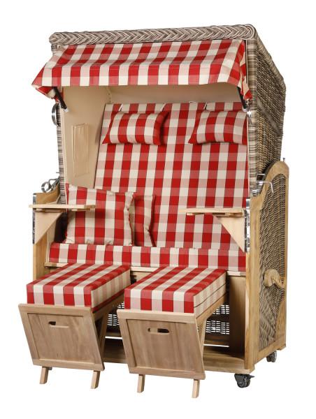 Akazienholz Strandkorb 2-Sitzer Volllieger SO-BE-Design 50