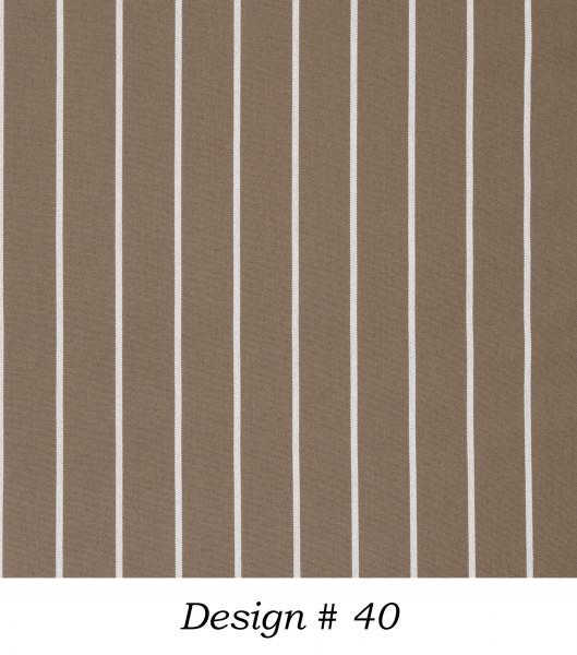 Markisenstoff Dralon® Design Braun Nadelstreifen Weiß