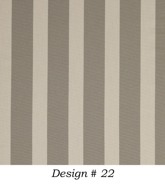 Markisenstoff Dralon® Design 22 Grau-Braun Beige gestreift