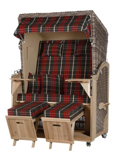 Akazienholz Strandkorb 2-Sitzer Volllieger SO-BE-Design 13