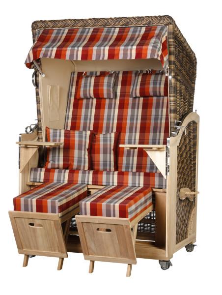 Akazienholz Strandkorb 2-Sitzer Volllieger CR-BE-Design 43