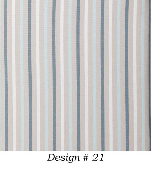Markisenstoff Dralon® Design 21 Blau Beige Weiß gestreift