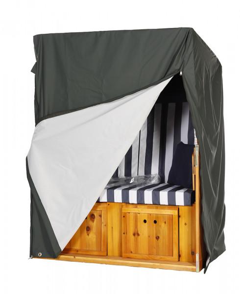 atmungsaktive strandkorb schutzhaube schutzh lle gr n f r 2 sitzer serie gr mitz wodega. Black Bedroom Furniture Sets. Home Design Ideas