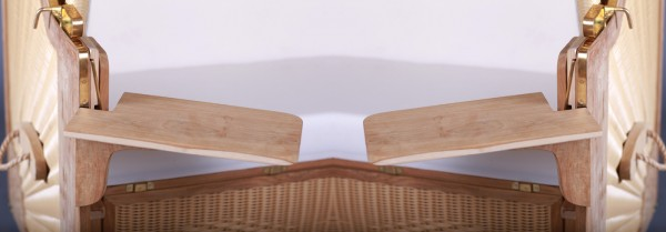 Teakholz Notebooktisch Links, Rechts oder beidseitig ca 38 x 22,5cm je Tisch