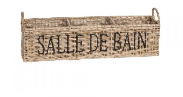 "Aufbewahrungsbox aus Naturrattan "" Salle de Bain """
