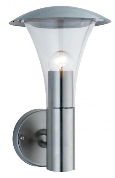 """Edelstahl Wandlampe Fackelleuchte """" Ohio """" E27-Fassung und LED geeignet"""