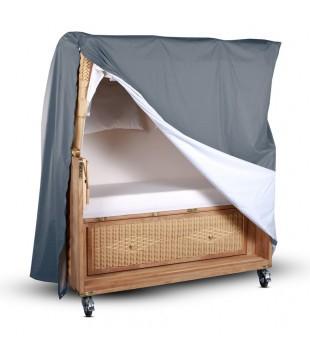 3 sitzer atmungsaktive strandkorb schutzhaube schutzh lle grau wodega wohnen deko garten. Black Bedroom Furniture Sets. Home Design Ideas