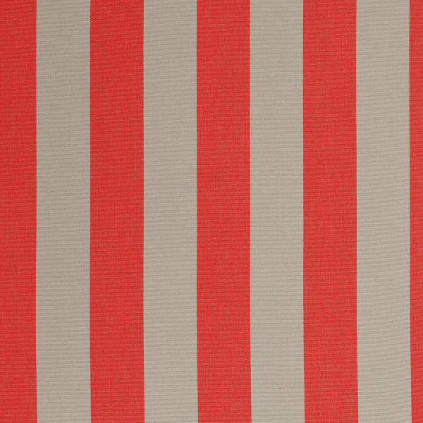 Markisenstoff Dralon® Design 46 Rot Grau Blockstreifen