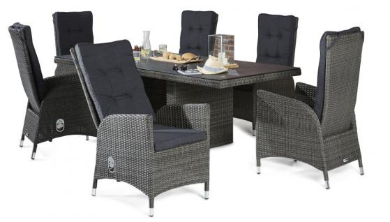 7 teilige sitzgruppe rocking aus polyrattan komplettset wodega wohnen deko garten. Black Bedroom Furniture Sets. Home Design Ideas