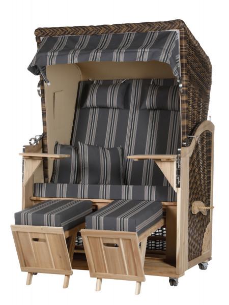 Akazienholz Strandkorb 2-Sitzer Volllieger CR-BE-Design 16