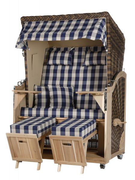 Akazienholz Strandkorb 2-Sitzer Volllieger CR-BE-Design 12