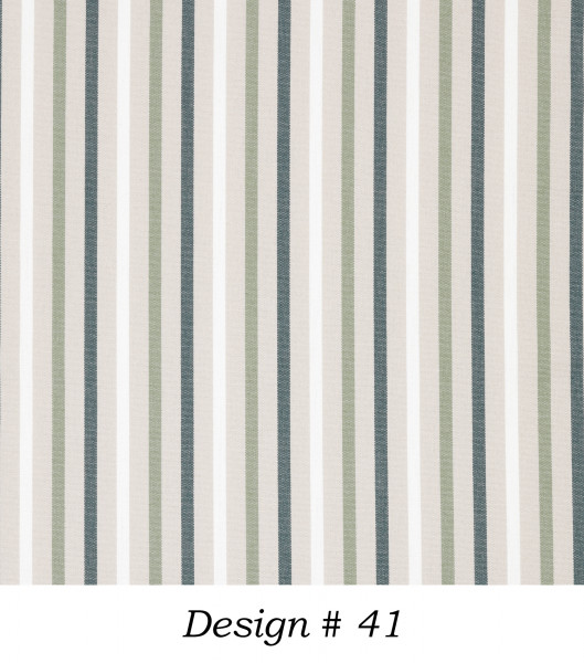 Markisenstoff Dralon® Design Grün Beige Weiß gestreift