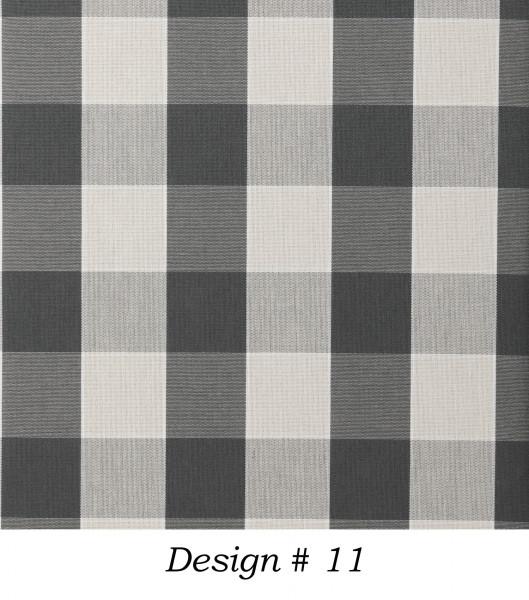 Markisenstoff Dralon® Design 11 Grau Beige kariert