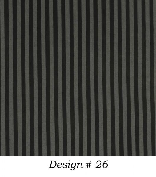 Markisenstoff Dralon® Design 26 Schwarz Grau gestreift