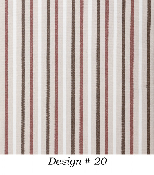 Markisenstoff Dralon® Design 20 Rot Braun Beige Weiß gestreift