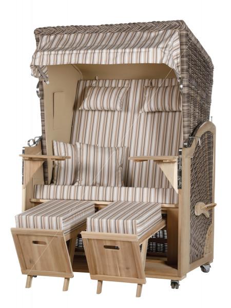 Akazienholz Strandkorb 2-Sitzer Volllieger SO-BE-Design 10