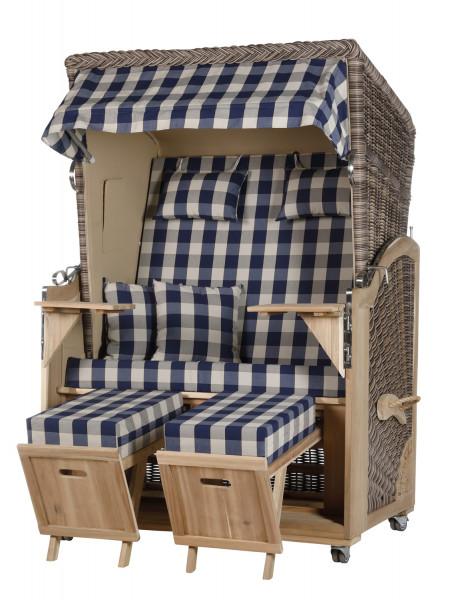 Akazienholz Strandkorb 2-Sitzer Volllieger SO-BE-Design 12
