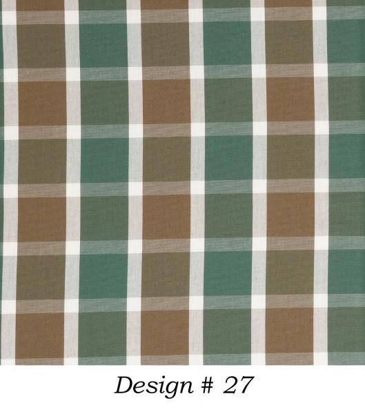 Markisenstoff Dralon® Design 27 Grün Braun kariert