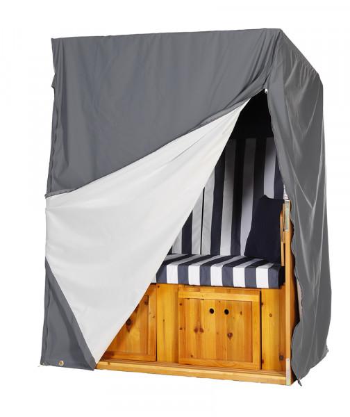 atmungsaktive strandkorb schutzhaube schutzh lle grau f r 2 sitzer serie gr mitz wodega. Black Bedroom Furniture Sets. Home Design Ideas