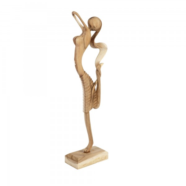 Teakholz Skulptur Ballerina Unikat Höhe ca. 70cm