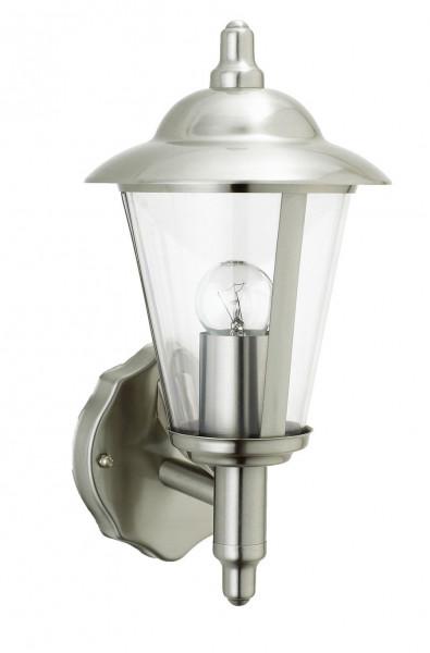 """Edelstahl Wandlampe Außenlampe """" Michigan """" E27-Fassung und LED geeignet"""
