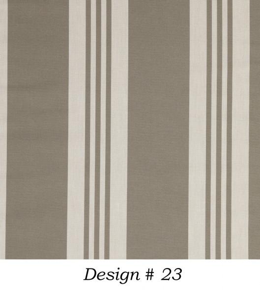Markisenstoff Dralon® Design 23 Braun Beige gestreift