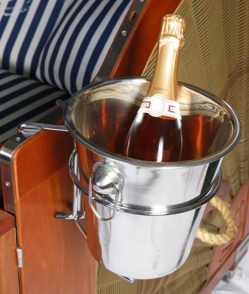Champagnerkühler aus Edelstahl inklusive Universalhalterung