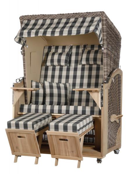 Akazienholz Strandkorb 2-Sitzer Volllieger SO-BE-Design 11