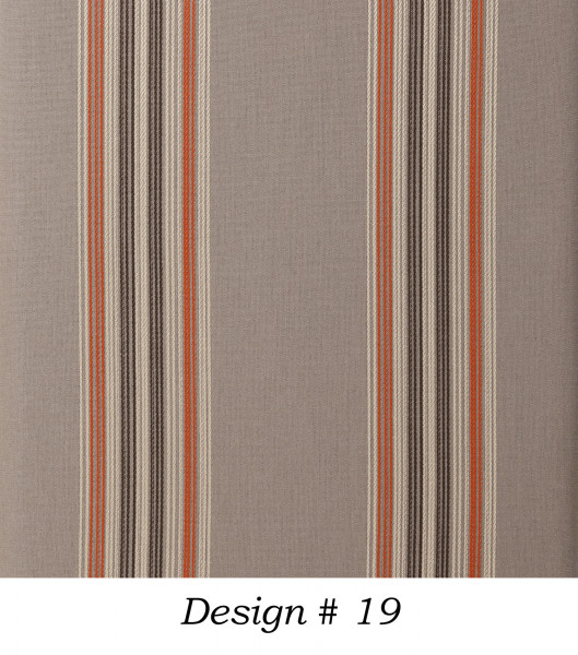 Markisenstoff Dralon® Design 19 Braun Beige Orange gestreift