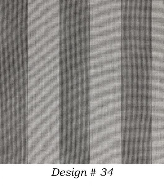 Markisenstoff Dralon® Design 34 Grau Blockstreifen gestreift