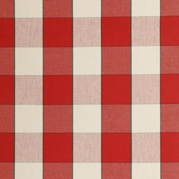 Markisenstoff Dralon® Design 50 Rot Weiß kariert