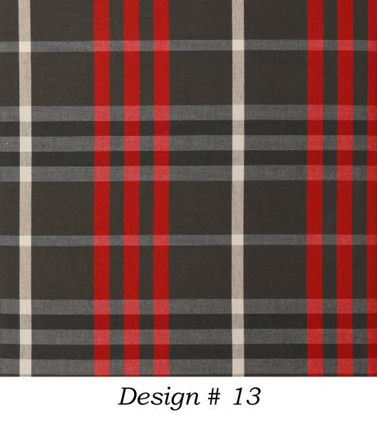 Markisenstoff Dralon® Design 13 Schwarz Rot Beige kariert