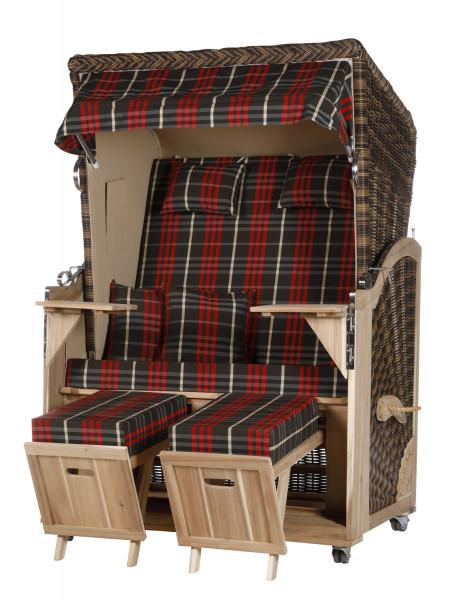 Akazienholz Strandkorb 2-Sitzer Volllieger CR-BE-Design 13