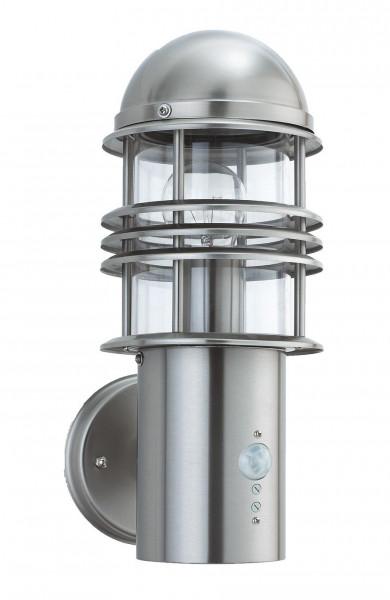 "Edelstahl Wandlampe "" Alabama "" mit Bewegungsmelder LED geeignet"