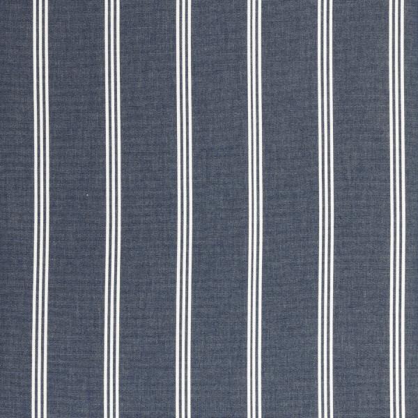 Markisenstoff Dralon® Design 44 Blau gestreift Doppelnaht Weiß