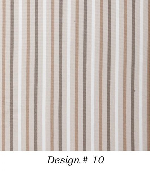 Markisenstoff Dralon® Design 10 Braun Beige Weiß gestreift