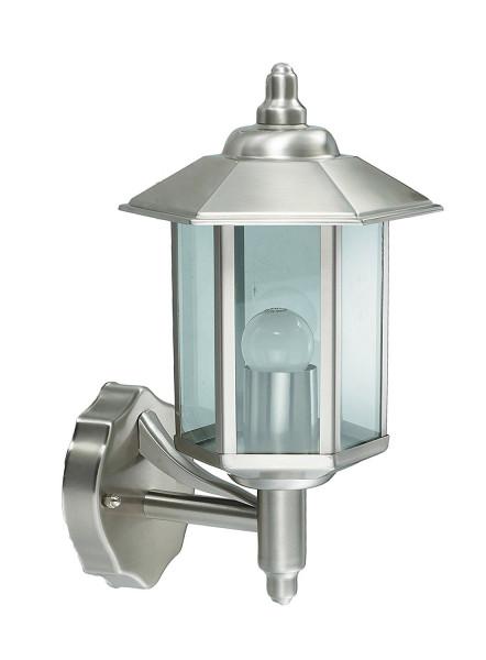 """Edelstahl Wandlampe Außenlampe """" Iowa """" E27-Fassung und LED geeignet"""