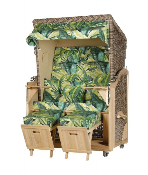 Akazienholz Strandkorb 2-Sitzer Volllieger SO-BE-Design 36