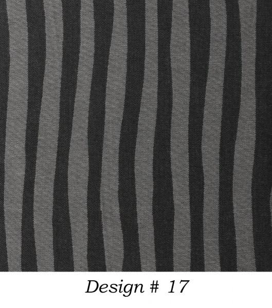 Markisenstoff Dralon® Design 17 Grau Schwarz Zebra gestreift