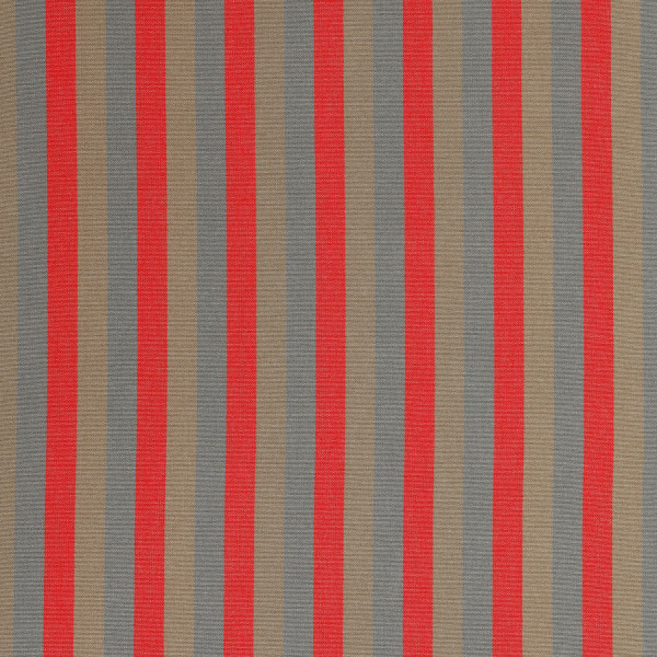 Markisenstoff Dralon® Design 49 Grau Braun Rot gestreift