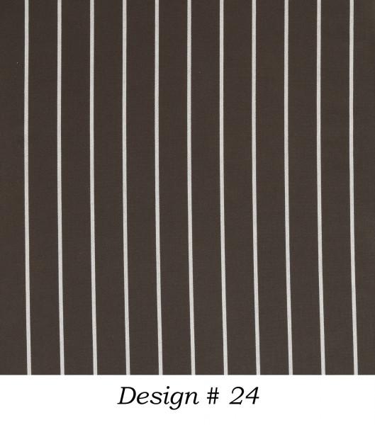 Markisenstoff Dralon® Design 24 Royal Anthrazit Nadelstreifen Weiß